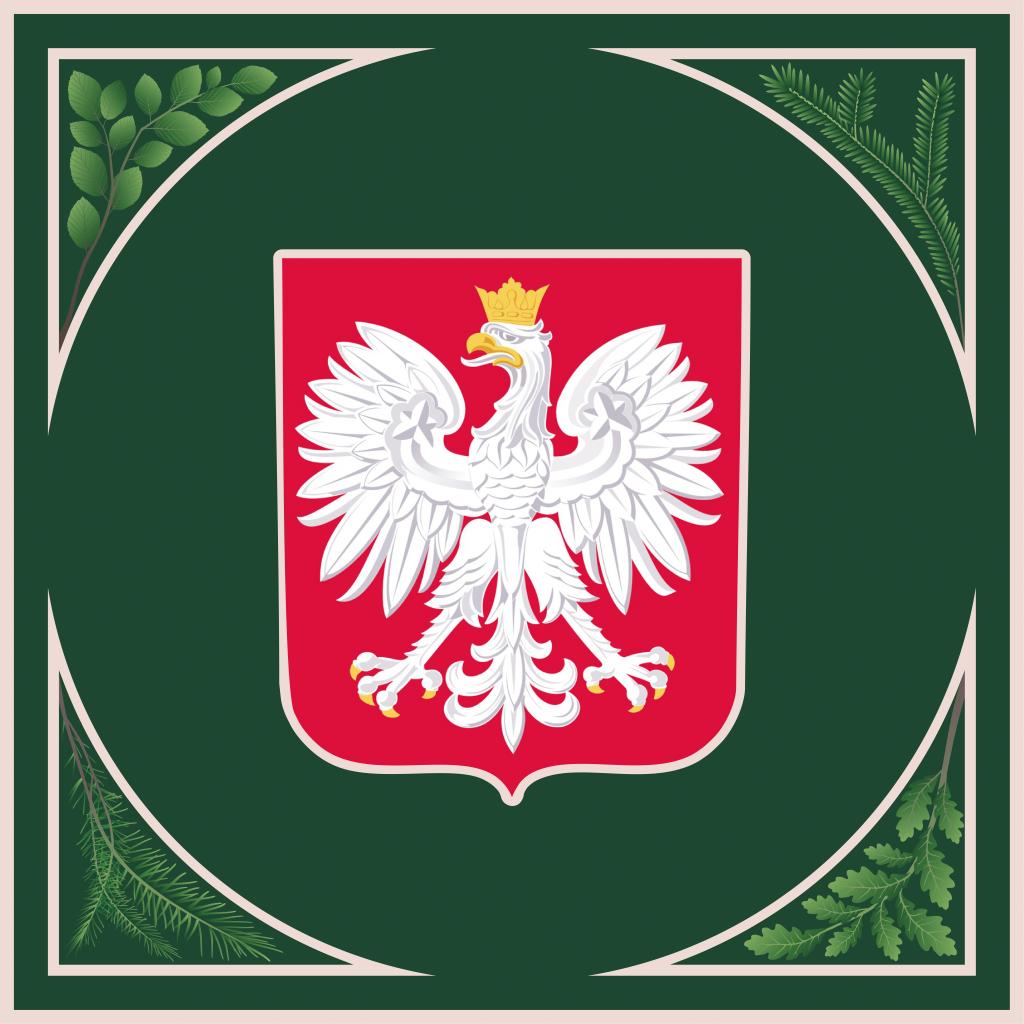 rewers sztandaru herb Rzeczypospolitej Polskiej